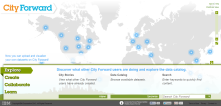 City Forward is a free, web-based platform that enables users to view and interact with city data from open sources.