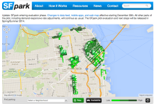 SFpark is SFMTAs variable pricing tool that utilizes smart meters with a goal of maintaining 15% parking availability per block.