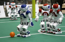 At Virginia Tech, professor Dennis Hong has designed and built robots that can play soccer. Is this the future of soccer?