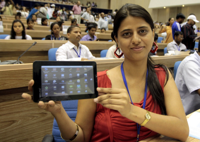 Akash: a low cost tablet ($35) distributed to students to promote e-learning in India