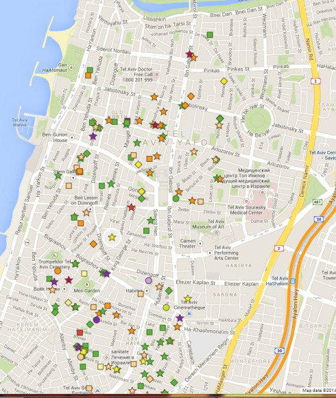 Three students in Tel Aviv (Israel) created an online map of fruit trees in the public domain; just go and pick.