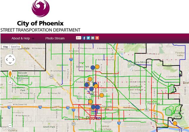 Bicycle Crowdmap: city of Phoenix