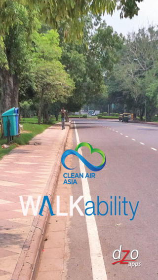 Walkability App: Clean Air Asia for evaluating pedestrian infrastructure