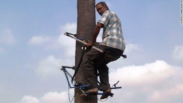 D. Renganathan developed a mechanical tree climber which can be used for scaling palm and coconut trees