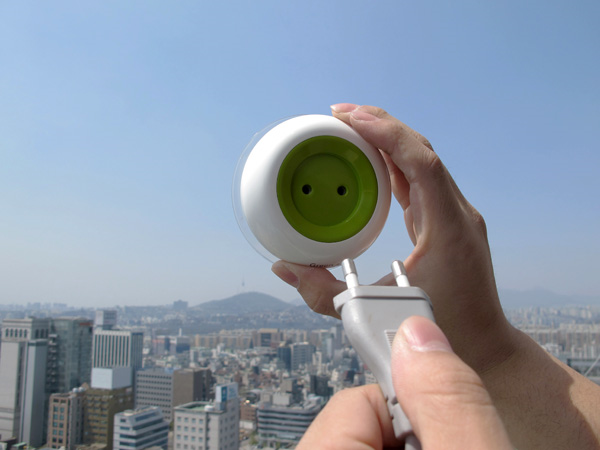 This is a prototype design for a solar powered outlet.