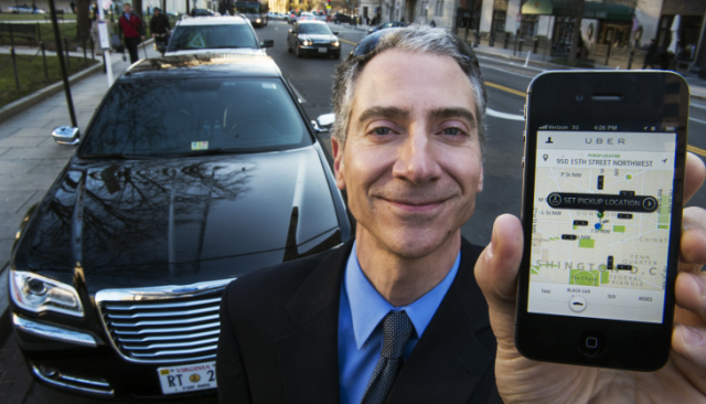 Ride-sharing services like UberX and Lyft use mobile apps to connect passengers with drivers.