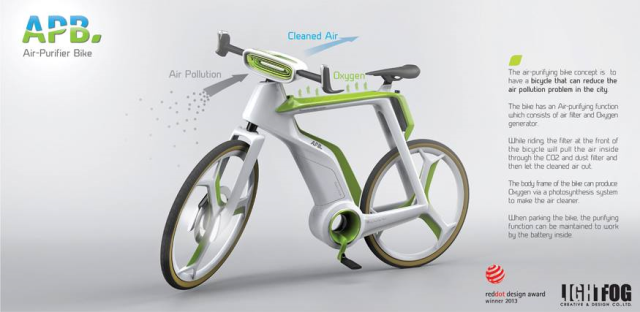 Air Purifier Bike....for Fresh morning cycling