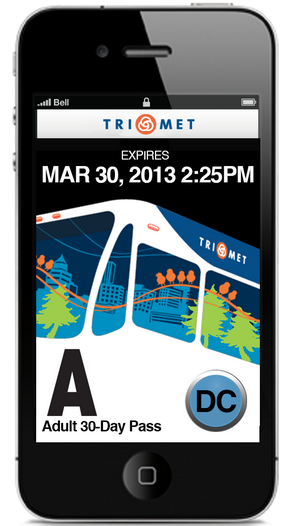 TriMet mobile ticketing app. Use this app to use public transit. No cash, no ticket needed.