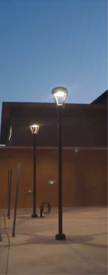 Dark sky friendly lighting that helps in reducing light pollution, protecting delicate ecosystems, and gaining energy efficiency