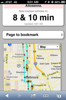 "Phone apps like ""Next Bus"" allow users to know where buses are real time and their ETA. Great for cold/hot days!"