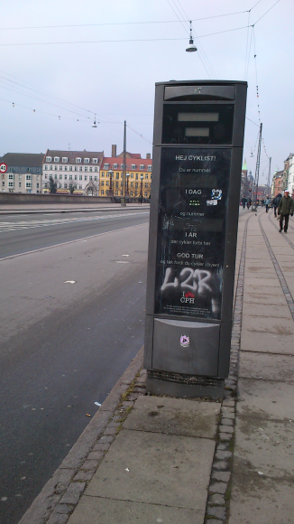 This tool is counting the number of bicycles going through a brigde in Copenhagen. Unfortunately is was off today...