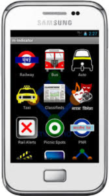 "m-indicator is mobile application giving every information and updates regarding travel.Train timing,multiplexes,r<wbr/><span class=""wbr""></span>estaurants etc"