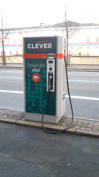 Electrical car charger in Copenhagen.