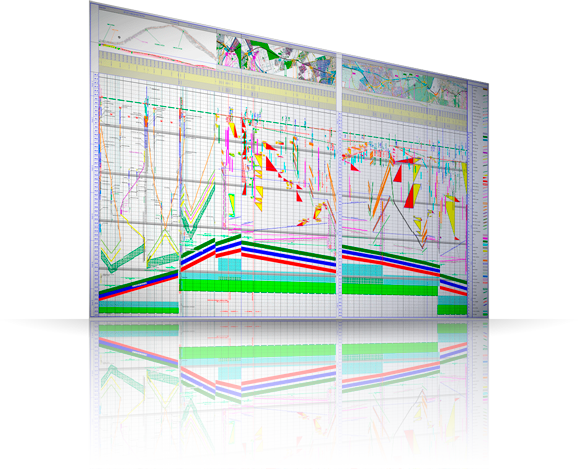 TILOS is a time-location planning software for managing linear construction projects, basically infrastructure projects.