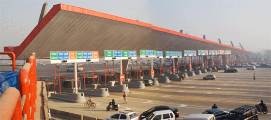 Smart Tag allows a motorist to travel non-stop through the Delhi-Gurgaon toll plaza