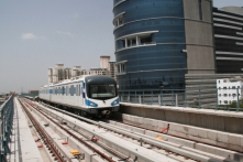 Rapid Metro connecting commuters to Cyber Hub, Gurgaon diverting 30% of existing road traffic and reducing travel time.