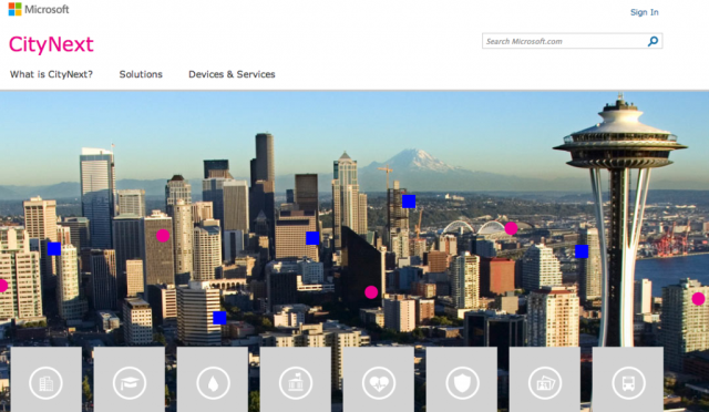 Microsoft's CityNext initiative launched last year leverages its Azure cloud technology for city energy efficiency.