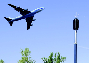 For SFO, SJC, and OAK airports, with data you can see online. Permanent Outdoor Microphone for aircraft noise monitoring.