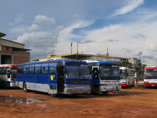 Phnom Penh buses for people use