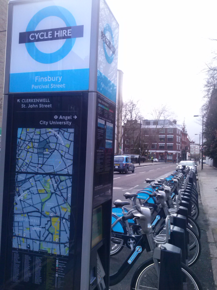 Cycle Hire in London. One of the sensors most important I've ever seen after Google. It's good for the health and traffic