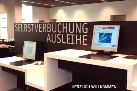RFID enabled books in the city library of Stuttgart, Germany allow for self checkin and checkouts :)