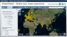 "Noise Meter: A global noise map created based on inputs from recordings of individual smartphones: http://eyeonearth.or<wbr/><span class=""wbr""></span>g"