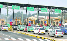 Sensors used that block/unblock vehicles during toll collection.