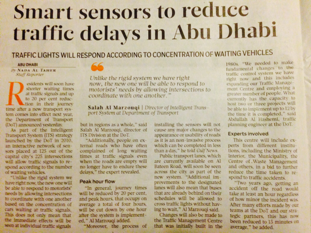 Abu Dhabi Government have initiated a number of project as part of Vision 2030. Smart 