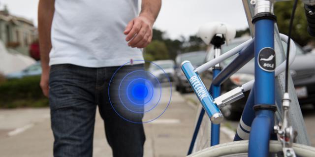Bike lock smart sensor: on your smartphone
