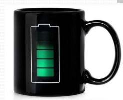 Mug with temperature sensor