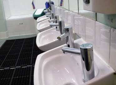 Sensor enabled taps !!!! Saves unnecessary water wastage!!!