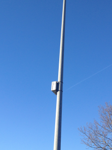 Traffic tracking sensor, mounted on street light pole