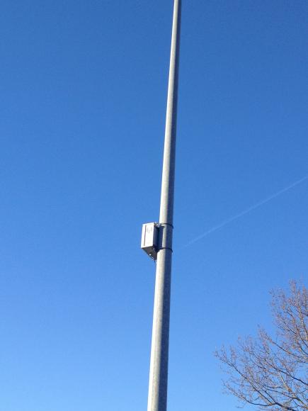 Traffic tracking sensor, mounted on street light pole