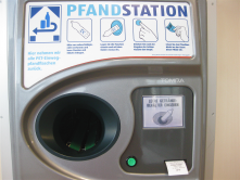 Smart Recycling in Germany: sensors read the bar code on recyclable bottles and reward with money or shopping credit.