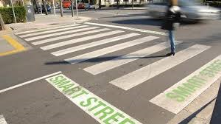 Smart and green street in Sant Cugat (Barcelona)