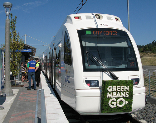 Portland's TriMet system. http://www.itsa.org/awards-media/press-releases/803-city_of_portland_receives_%5C