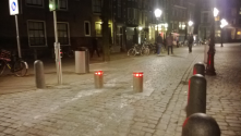 Intelligent (Retractable) Bollards<br/>Sink into the ground when road is open to traffic and emerge when road is open only to pedes