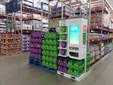 Point of Sale Merchandise Kiosk in Sams Club. Predict many more like this in the future. Scans card, knows its you.