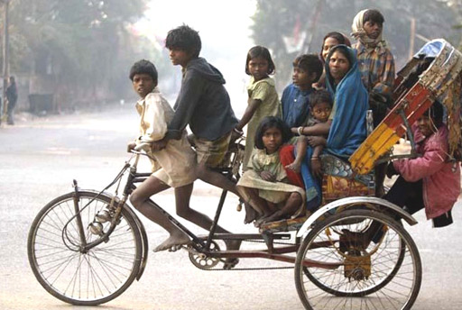 When city limits were no longer walkable, the next best thing came along: Cycle Rickshaw (Source:http://www.socialearth.org)