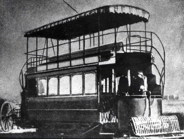 Tramways were originally pulled by horses. The invention changed the entire transportation system on cities.
