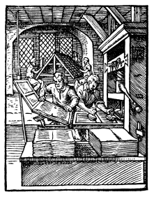 The printing press as a means of much more easily spreading idea, directions, news about a city through literature