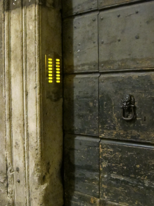 Knocker and Intercom in a Roman Entrance
