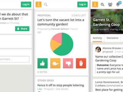 Collaborative decision making tool like Loomio