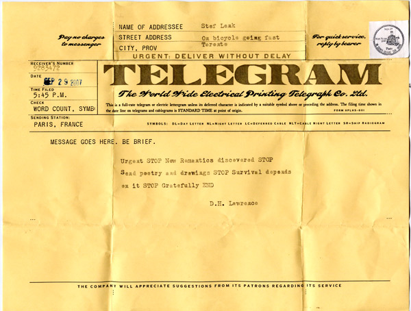 In old time via telegram people do communication