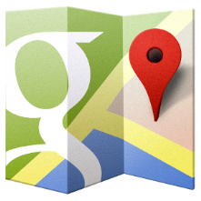 when you're looking for somewhere, ask Google maps .
