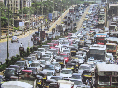 Encourage practice of car pooling in the congested cities