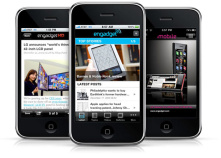 Engadget iPhone app. It's also available on other OS, but keeps me updated in the tech world.