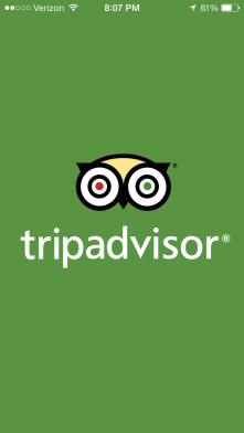 Trip Advisor- gives instant suggestions and reviews for sites, restaurants, hotels etc.