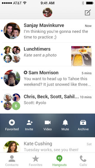 Hangouts by Google+ is a very good app. it facilitates group projects very well and makes meeting up much more convenient.