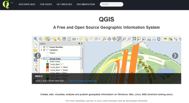 QGIS v2.2 : A Free and Open Source Geographic Information System